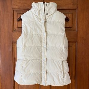 J Crew Cream Down Puffer Vest S